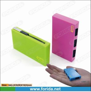 Slim Size 4 Port Colorful Card Reader (HYD-6089H)