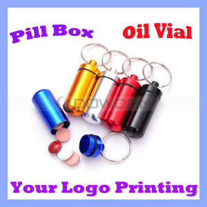 Aluminum Waterproof Pill Box / Pill Vial and Oil Vials with Keychain (BOX-01) pictures & photos