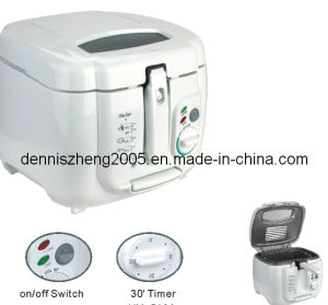 1800-Watt Cool-Touch Plastic Housing Deep Fryer with 2.5L Capacity