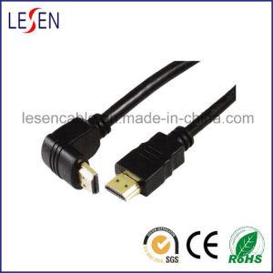 Right Angle HDMI Cable, 1.3 and 1.4V High Speed pictures & photos