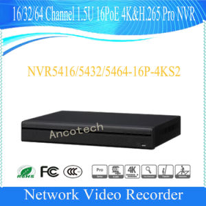 Dahua 16 Channel 1.5u 16poe 4k&H. 265 PRO Surveillance NVR (NVR5416-16P-4KS2) pictures & photos