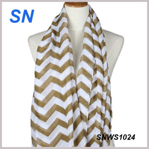 2015 Hot Sale Fashionable Girls Chevron Scarf pictures & photos