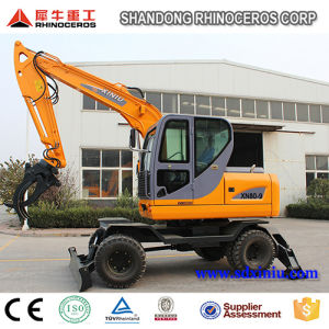 China Best 8 Ton Wheel Excavator with Best Price for Sale pictures & photos