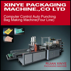 Four Line Auto Punching T-Shirt Bag Making Machine pictures & photos