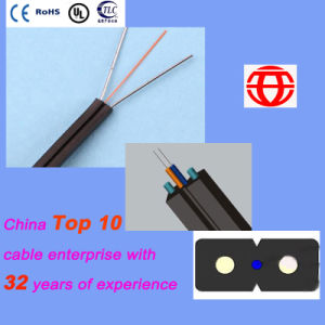 4 Core Single Mode FTTH Drop Cable with White Color pictures & photos