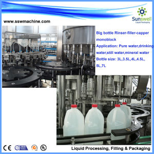500bph Big Bottle/Barrel 18.9L Plasitc Bottle Water Filling Machine/Pure&Mineral Water Bottling System pictures & photos