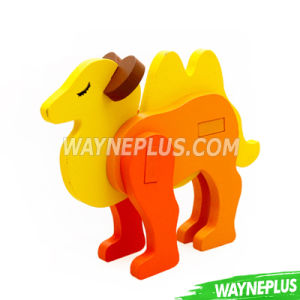 Custom Promotional Toy Lovely Baby Gift Moving Wooden Toy Push Along Animal