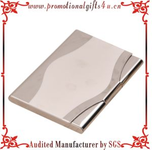 Metal Custom Made Business Name Card Holder-Grey (CX-CH-029)