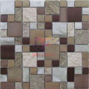 Quartz Mix Aluminium Mosaic Tile (CFA98) pictures & photos
