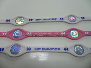 Hot Embbosed Silicone Wristband with Power Ion pictures & photos