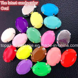 Claw Rhinestone Neon Color Fluorescence Color Resin Sew on Stone pictures & photos