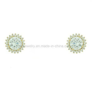 Daily Wear Bead Shaped 18K Gold Plated Ear Stud for Girl (KE3109) pictures & photos