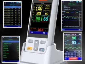 Portable Fingertip Handheld Pulse Oximeter with SpO2+NIBP+Temp pictures & photos