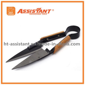 Garden Tool Pruning Scissors V Shape Wood Handle Grass Shears pictures & photos