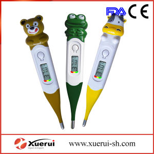 Cartoon Baby Digital LCD Thermometer with Flexible Tip pictures & photos
