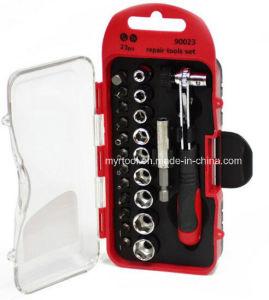 21-Piece Ratchet Screwdriver & Socket Set (FY100-23B) pictures & photos