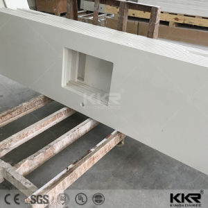 Precut Pure White Engineered Quartz Bench Tops for Hotel (C170921) pictures & photos