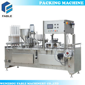 Yogurt Cup Filling Lid Sealing Machine (VFS-8C) pictures & photos