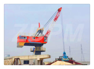 Floating Crane Work with Grab for Handling Bulk Materials pictures & photos