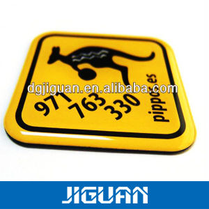 Custom Logo Self Adhesive Weahterproof Anit Yellow Crystal PU Dome Sticker pictures & photos