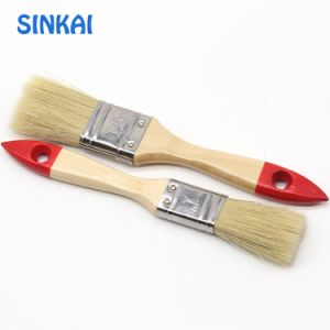 Decorative Moisture-Resistance Wooden Handle Natural Bristle Flat Paint Brushes pictures & photos