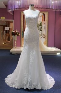 Strapless Lace Mermaid Evening Bridal Wedding Gowns pictures & photos