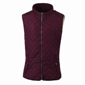 Women′s Winter Qulited Padding Vest with Sherpa Lining (FHL17009) pictures & photos
