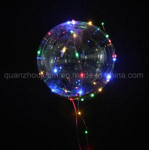 Custom High Quality Flashing LED PVC Transparent Balloon pictures & photos