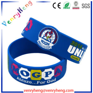 Cheaper Popular Custom Silicon Rubber Bracelet for Promotion Gift pictures & photos