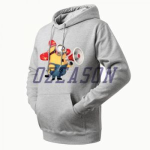 Wholesale Sublimation Gray Fleece Pullover Hoodies pictures & photos
