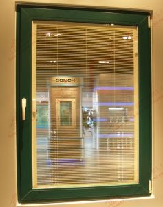 Green Color PVC Casement Window (BHP-CW06) pictures & photos