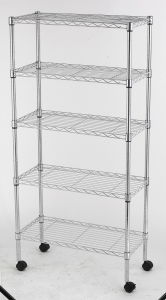 Hot Sale 5 Layers Chrome Metal Household Wire Shelving (LD7535156A5W) pictures & photos