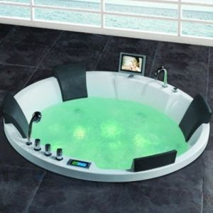 Fashionable Round Whirlpool Massage Bathtub (SR595) pictures & photos