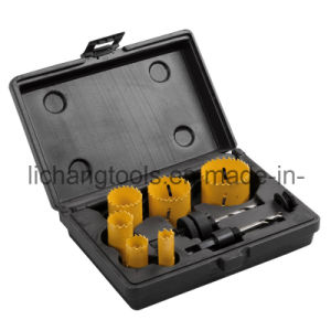 9PCS Hole Saw Set with Plastic Box pictures & photos