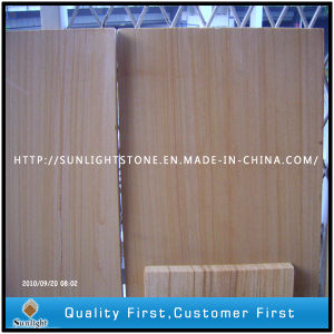Honed Straight Wood Vein Sandstone for Walling Cladding pictures & photos