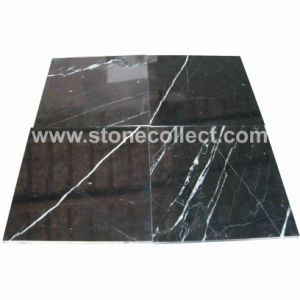 Nero Marquina Marble Tiles and Slabs pictures & photos