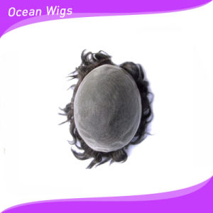 Hairpiece Human Hair Toupee (TP-12) pictures & photos