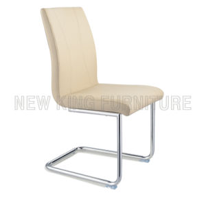Modern Chrome Steel Foot PU Leather Dining Chair (NK-DC033) pictures & photos