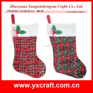 Christmas Decoration (ZY14Y35-1-2 48CM) Christmas Sock Indoor Decor of Party pictures & photos
