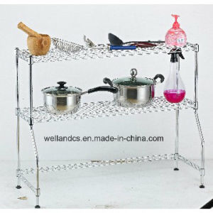 New Style DIY 2 Tiers Metal Kitchen Wire Shelving Rack pictures & photos