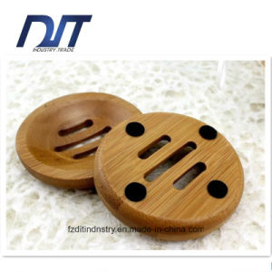 Round Bathroom Accessories Bamboo Soap Box with Custom Design pictures & photos