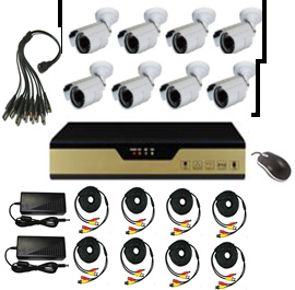 HD DVR Kit with 8 Cameras and 8CH DVR pictures & photos