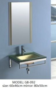 Tempered Glass Basin with Silver Mirror pictures & photos