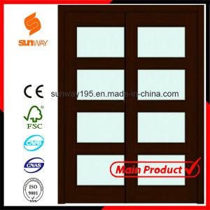 2014 Hot Sale Interior Glass Sliding Wooden Door with Certificate pictures & photos