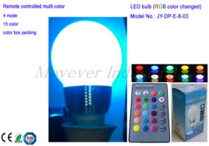 Remote-Controlled Multi-Color LED Bulb Light 3W pictures & photos
