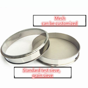 Standard Test Sieve for Soil/Stone/Sand/Medicinal Powder/Tea Sifting pictures & photos