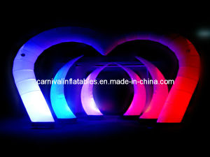 Inflatable Decoration/ Inflatable Event Decoration/Lighting Inflatable Arch/ Inflatable Arch with LED for Wedding