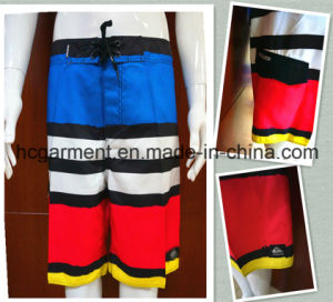 Man′s Board Shorts, Strip Polyester Quickly Dry Beach Wear pictures & photos
