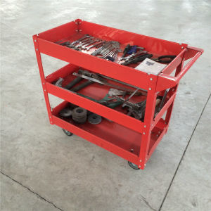Tool Cart Service Garage Utility Trolley 3 Tier Tool Metal Tray pictures & photos