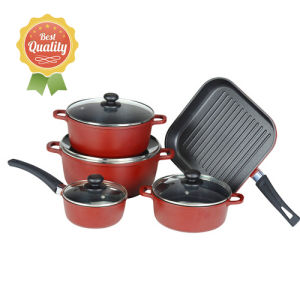 9PCS Die-Cast Aluminum Non-Stick Cookware Set pictures & photos